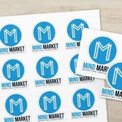 Livraison économique offerte dès 40€ HT Stickers MindMarket 1