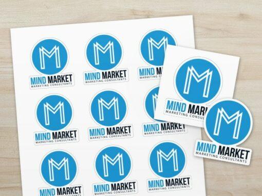 Livrés en planches décollage facile des autocollants Stickers MindMarket 1