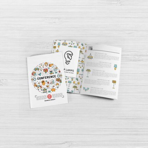 Nombreuses options disponibles 1 plis, 2 plis, 3 plis, fin, épais... brochure A5 8