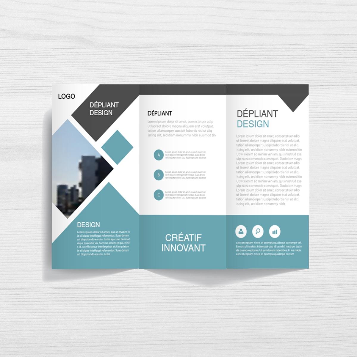 Depliant Publicitaire Depliants 3 Volets Flyer 4 Pages Copymage Com
