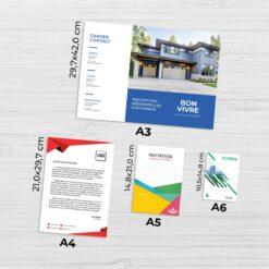 Impression au format standard A4 format groupe v4 5