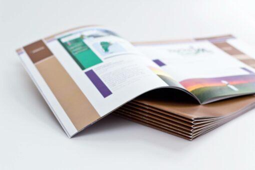 brochure agrafée
